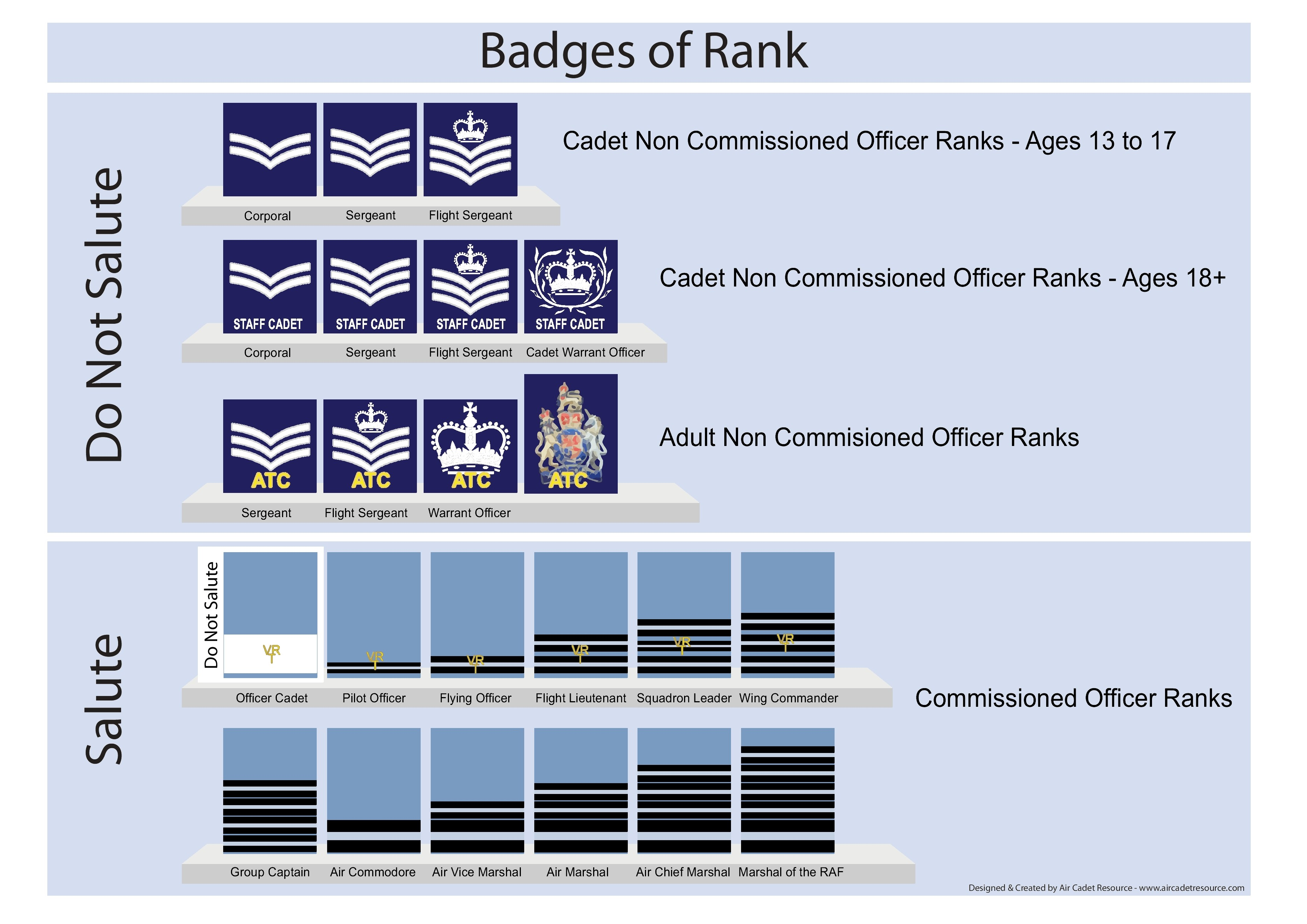 Badges of rank in the ATC